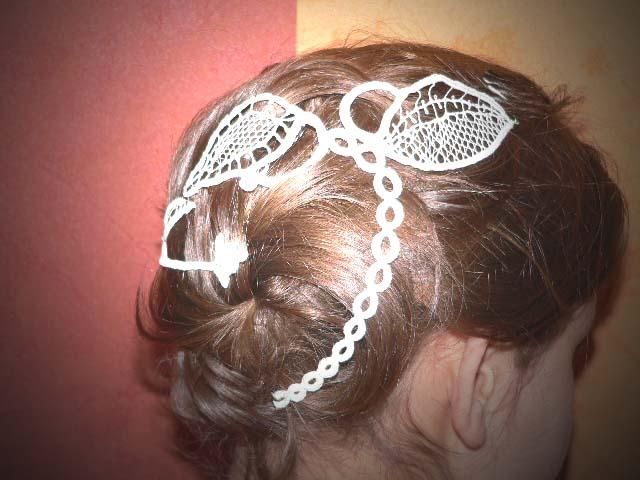 magnifiquse bijoux pour cheveux 100 fait main dentelle au fuseaux crochet d 39 art ou frivolit. Black Bedroom Furniture Sets. Home Design Ideas